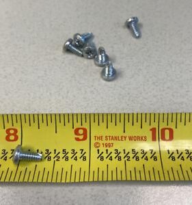 #6-32 x 1//4 Thread Cutting Screw Phillips Pan Head Yellow Zinc Plated