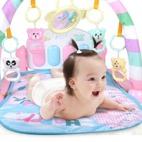 Krabbeldecken Babys Spielmatte,Krabbeldecke mit Spielbogen und Füßchenklavier Babys Geschenk