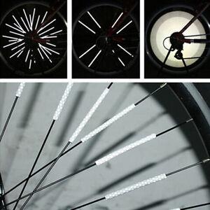 Bicycle Wheel Spoke Reflective Reflector Arrow Shape Cycling Safe Warning light\
