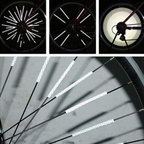 Bicycle Bike Wheel Spoke Reflector Reflective Mount Clip Tube Warning Strip 1Pcs