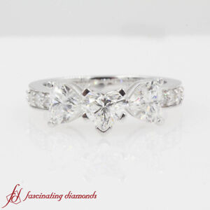 1-75-Ct-Heart-Shape-3-Stone-Diamond-Engagement-Ring-Pave-Set-Round-Accents-SI2-F