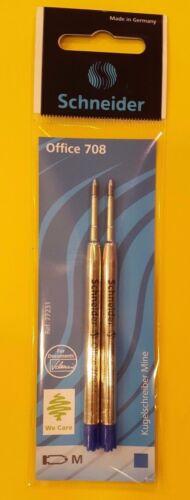 schwarz Schneider Kugelschreibermine M Großraummine Parkersystem 2er Pack blau
