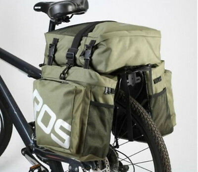 Roswheel 37L Durable Waterproof 3 in 1 Bicycle Rear Pannier Bag for Cycling