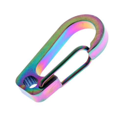 Titanium Alloy Carabiner Clip Spring Keychain Quick Hook Buckle Outdoor