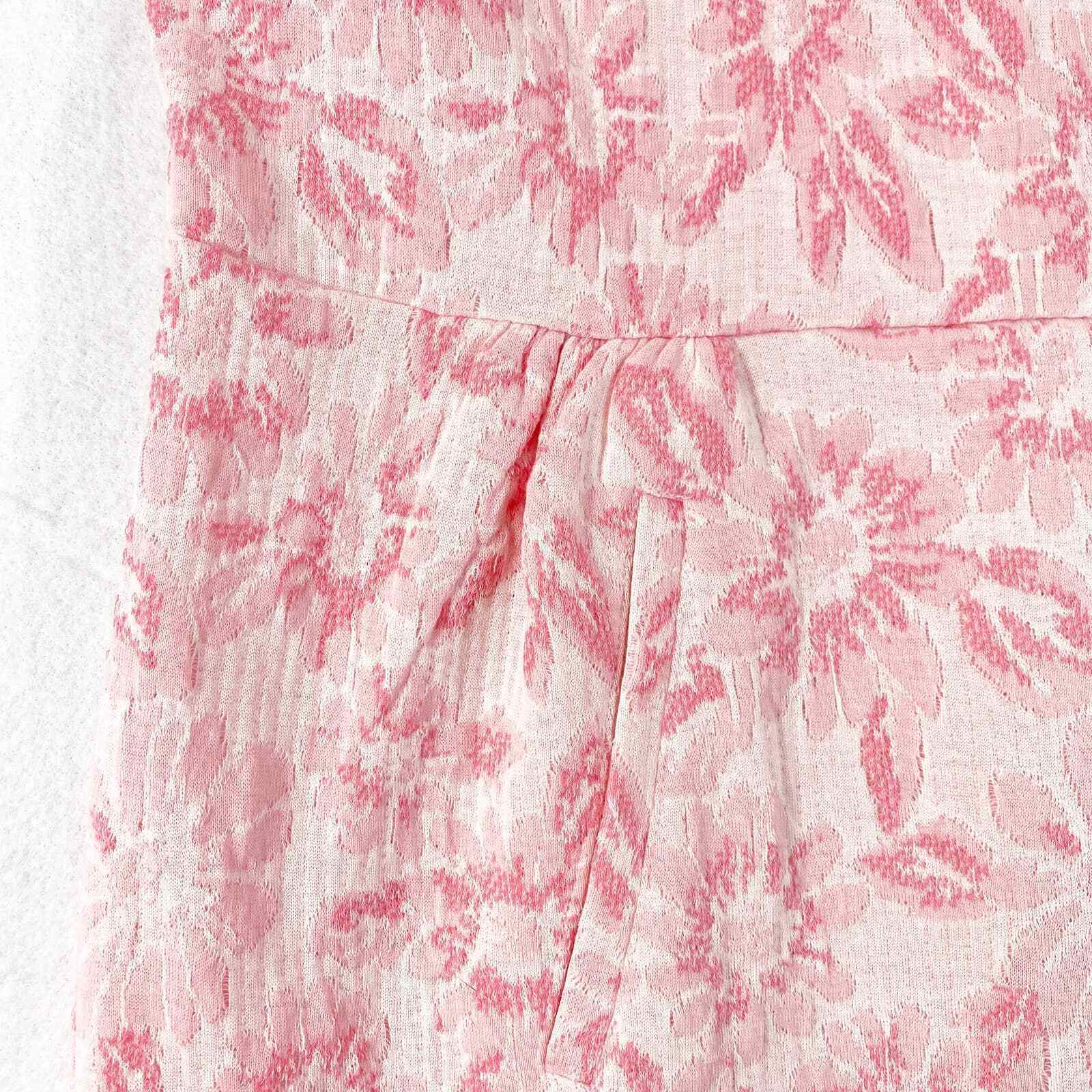 Tyler Boe Dress Small Womens Mini Pink Floral Kni… - image 4