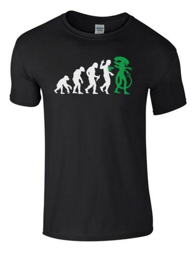 Alien Evolution Sci-Fi Men/'s Funny T-Shirt