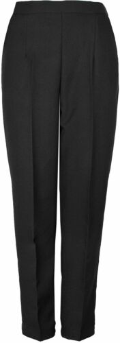 Womens Half Elasticated Waist Trouser Inside Leg 25 27 29 Inches KK39//40//54