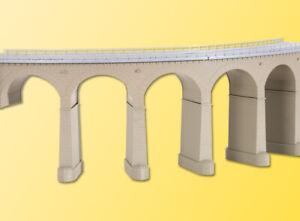 Kibri 39725 Riedberg-Viadukt mit Eisbrecherpfeilern gebogen, eingl., Bausatz, H0