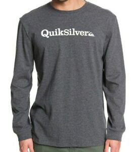 QUIKSILVER-MENS-T-SHIRT-NEW-FRACTION-OF-MIND-GREY-COTTON-LONG-SLEEVED-TOP-9W-1KT