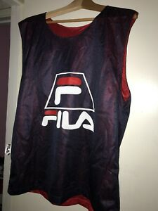 Vintage FILA Reversible Basketball Jersey 90's Hip Hop Big Spell Out Logo USA | eBay