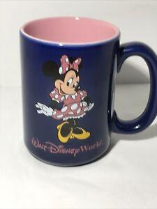 VTG Walt Disney World Coffee Mug Cup Purple MINNIE MOUSE Pink 16 oz Thailand