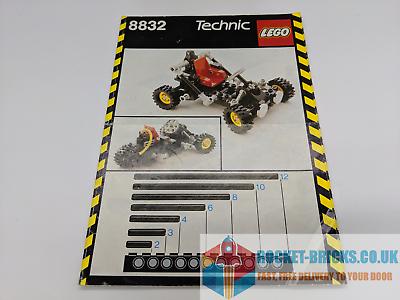 ⭐ LEGO Technic 8832 Roadster-Manuale di istruzioni SOLO-Grado B ⭐