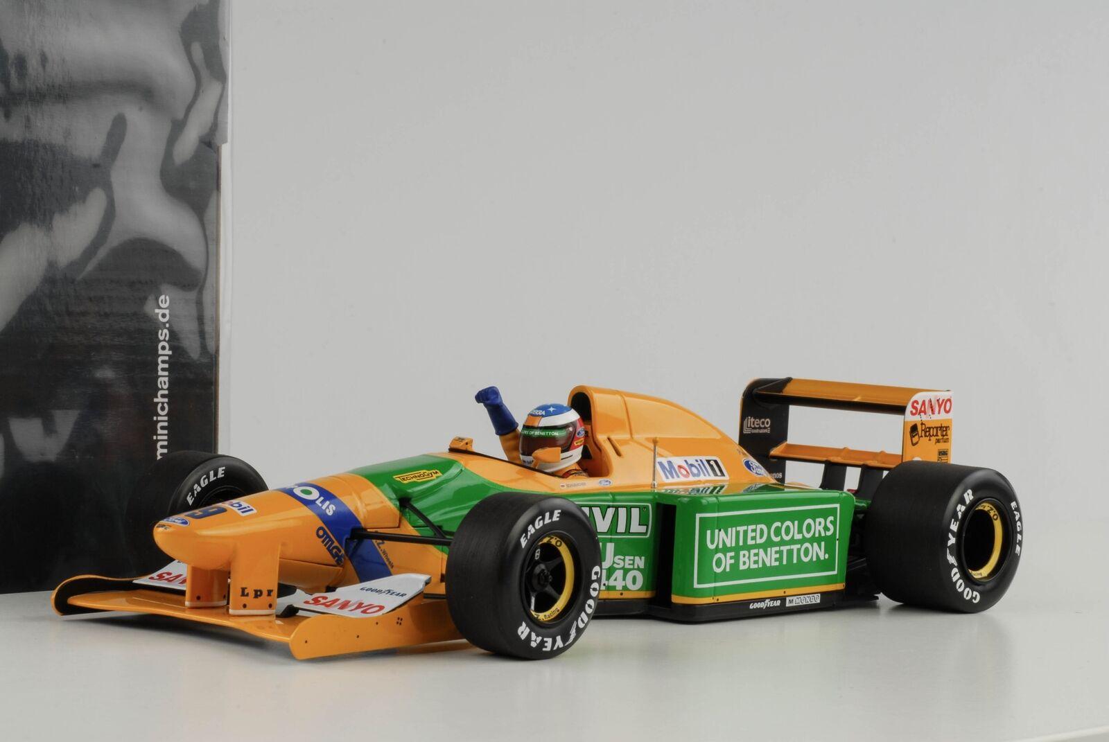 Schumacher benetton b192  19 1st GP Victory SPA FORMULE 1 1992 1 18 Minichamps