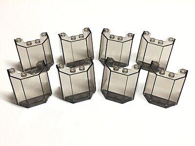 LEGO Trans Black Windscreen 3x4x3 Parts Pieces 84954 Smoke Lot of 8