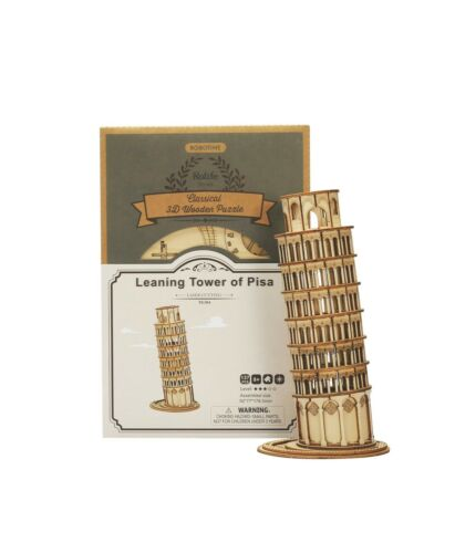 TG304 Robotime Rolife 3D Holzpuzzle Schiefer Turm von Pisa Modell Nr