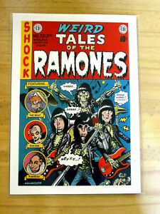 THE-RAMONES-WEIRD-TALES-OF-THE-RAMONES-A4-REPRODUCTION-CONCERT-POSTER