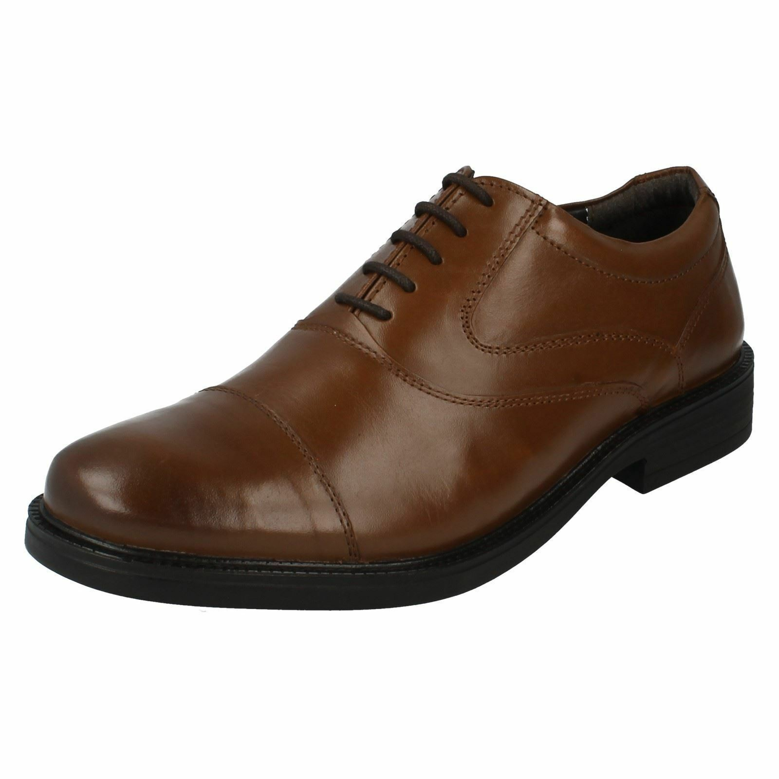 Mens Hush puppies leather lace up schuhe - Rockford Oxford CT