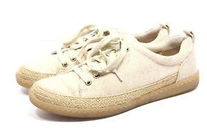 Born-B-rn-Abelonia-Shoes-Womens-size-7-5-canvas-Jute-Espadrilles-Lace-Up-Sneaker