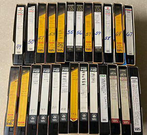🟢 Lot Of 25 PreRecorded Used VHS Tapes As  Is Used Blanks Lot Shown In Pictures