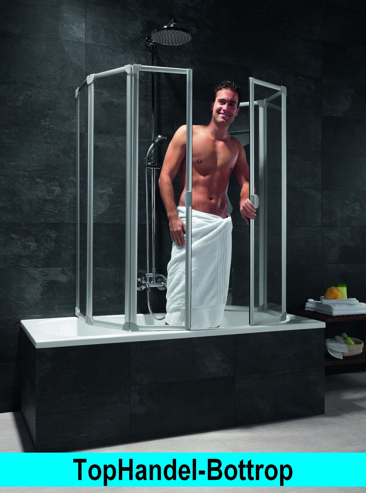 Schulte Badewannenaufsatz Badewannen Faltwand Duschwand BFW6 D1700 KS o. SG-Glas