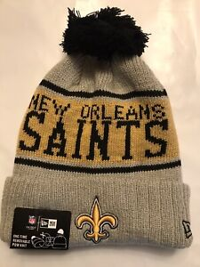 release info on reliable quality best cheap NEW ERA 2019 New Orleans Saints Sideline Beanie Winter Pom Knit ...