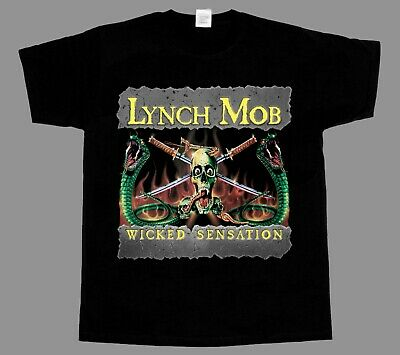Lynch Mob Wicked Sensation Metal Band Long Sleeve Black T-Shirt Size S to 3XL