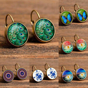 Elegant-National-Style-Rhinestone-Earrings-Retro-Fashion-Women-Ear-Stud-Jewelry