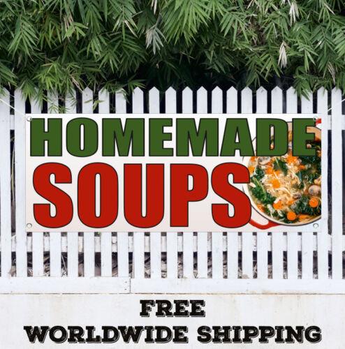 Banner Vinyl HOMEMADE SOUP Advertising Sign Flag Many Sizes Restaurant Cafe Food