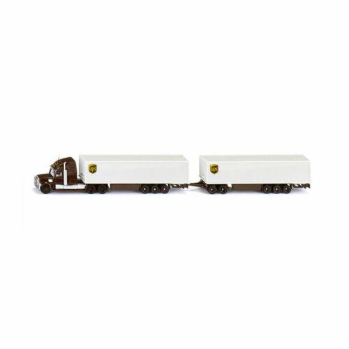 """Siku 1806 US-Truck Road Train /""""UPS/"""" mit Anhänger Maßstab 1:87 NEU!°"""