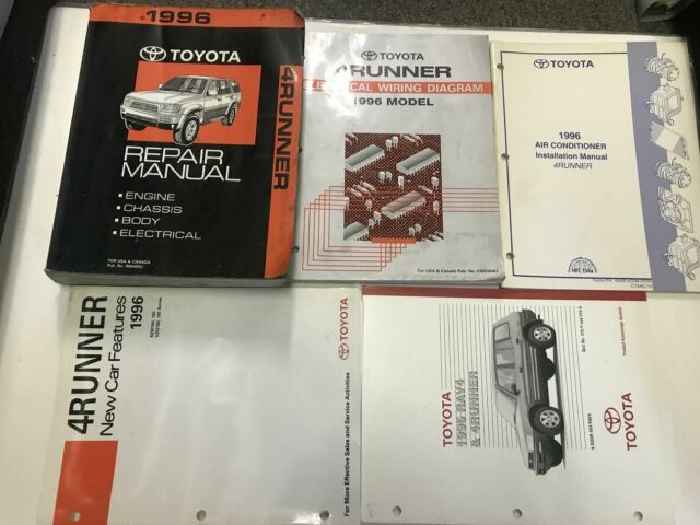 1996 Toyota 4runner 4 Runner Service Shop Repair Manual