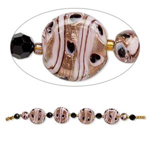 2090 Bead Set Glass Lampwork Pink 21 /& 7mm  *UK  SHOP*
