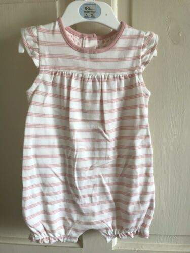 Age 3-6 Months White BNWOT M/&S Romper Suit// Outfit Girls Pink Summer