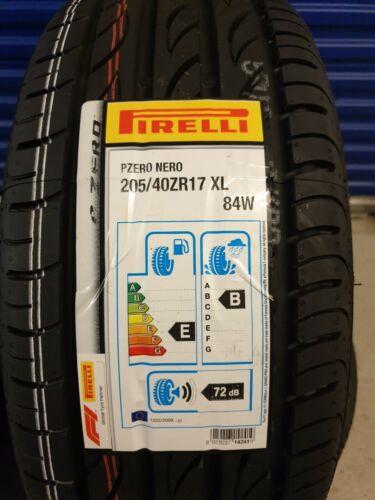 2X nuevo coche neumáticos Pirelli P Zero Nero 205//40 ZR17 XL 84W A1 Premium 205 40 17 B