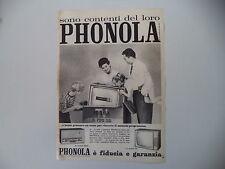 advertising Pubblicità 1961 PHONOLA TELEVISORE 23''/RADIO
