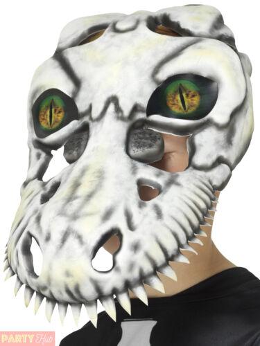 Ragazzi T-REX Scheletro Dinosauro Bambini Maschera Zombie Halloween Costume