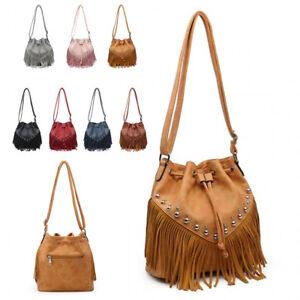 4819fff06677 Ladies Fringe Cross Body Bag Tassel Messenger Bag Dolly Shoulder ...