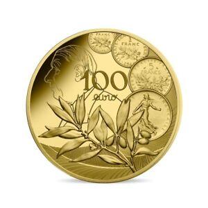 100 euro France 2020 or BE - Semeuse / Nouveau Franc / Général De Gaulle