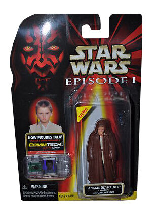 STAR WARS EPISODE 1 ANAKIN SKYWALKER NABOO PILOT Commtech Chip Hasbro MOSC
