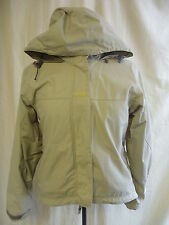 Ladies Coat - Helly Hensen, size XS, beige/grey, hooded, outdoor, used - 1900