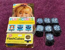 15 GE, Sylvania & OSRAM  FlashCubes, 1 Cube has 1 flash used, 59 Flashese Total