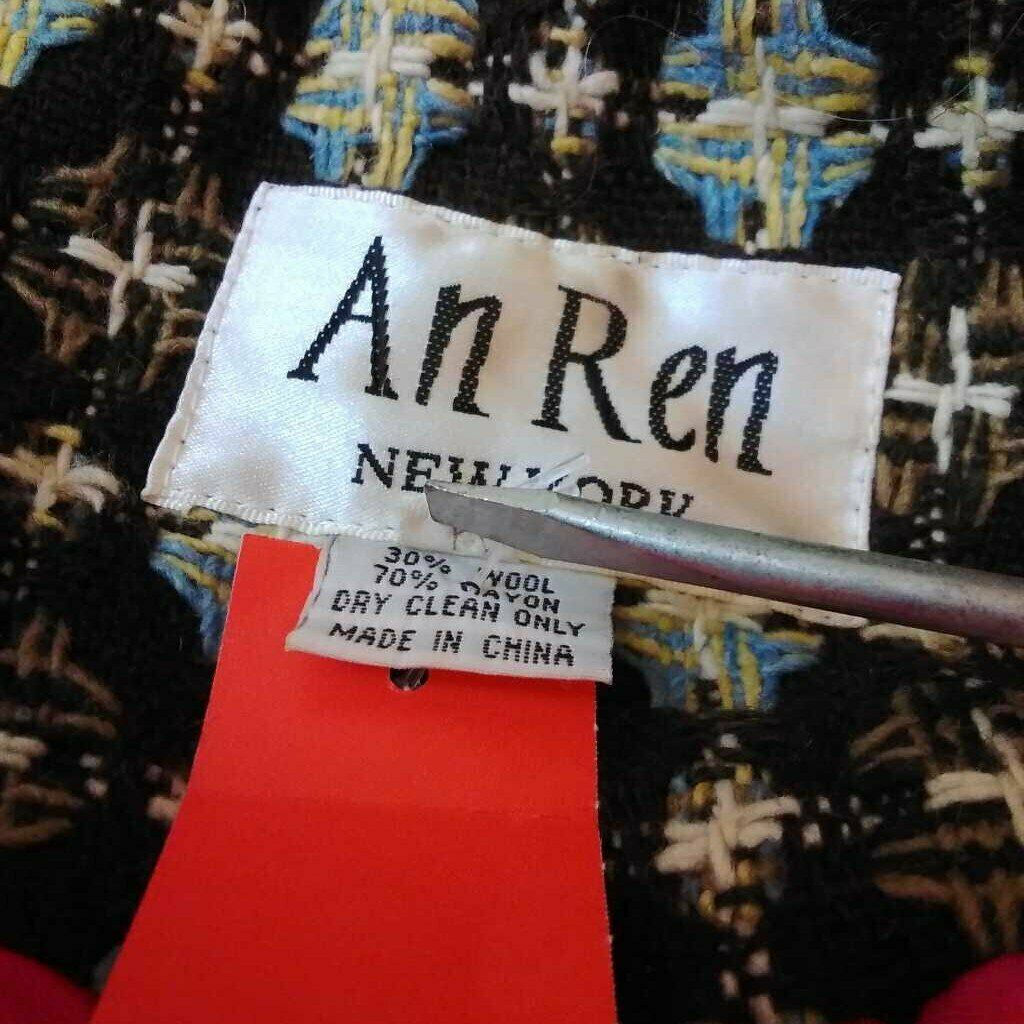 AN REN NEW YORK BROWN MULTI COLOR COAT SIZE LARGE - image 6