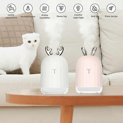 Mini Cute Rabbit Deer Humidifier 220 ML Diffuser LED Light USB Moisture Sprayer