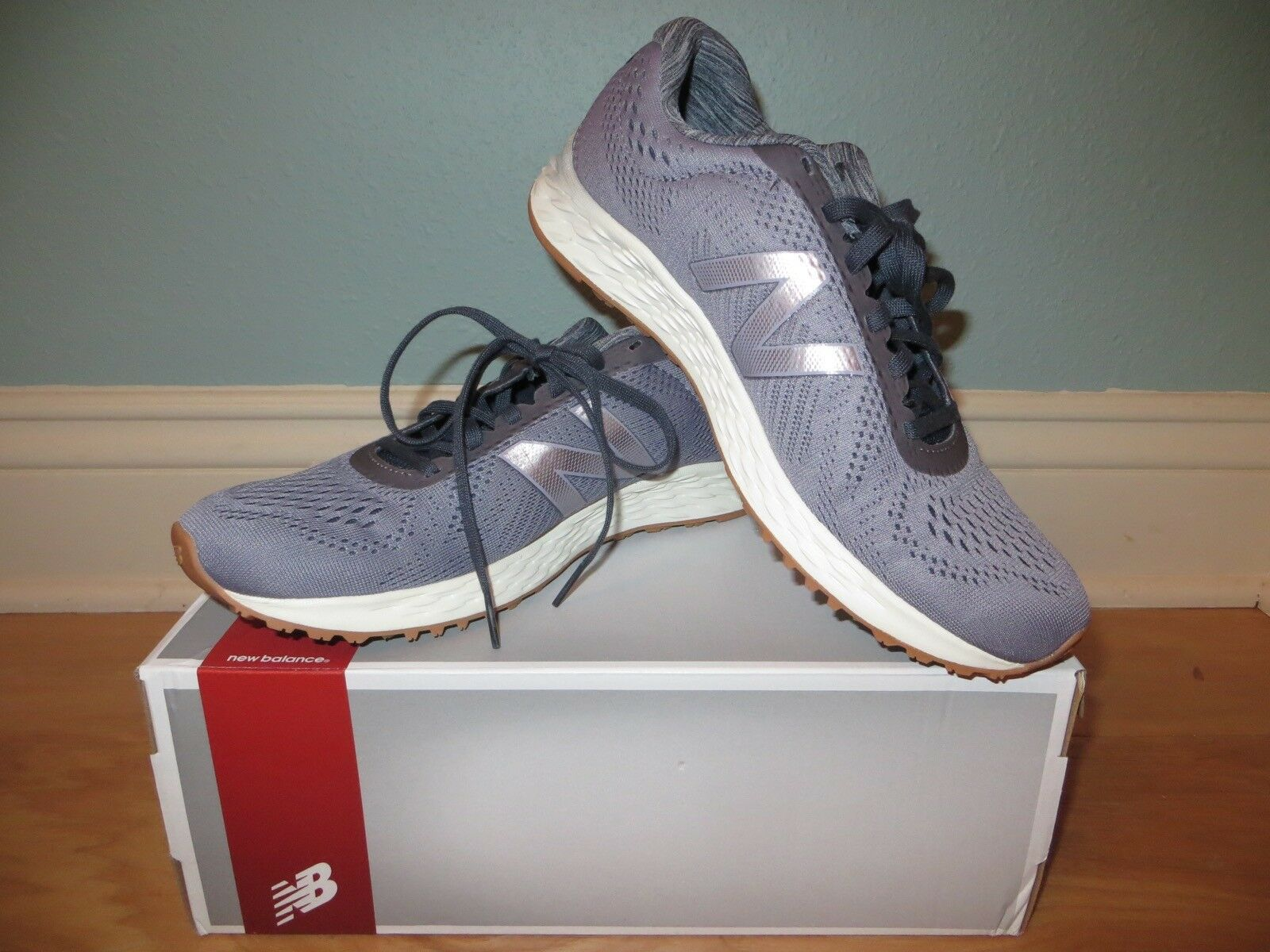 NEW BALANCE FRESH FOAM ARISHI PURPLE GRAY GLITTER 9 SNEAKERS RUNNING Schuhe NIB 9 GLITTER ea9055