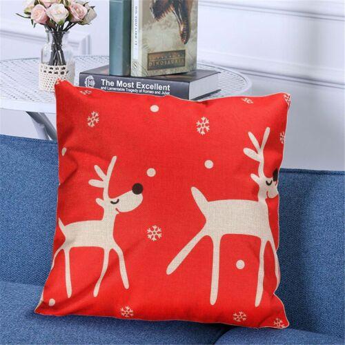 Bedroom Christmas Party Decor Sofa Case Cushion Cover Square Throw Pillow Car