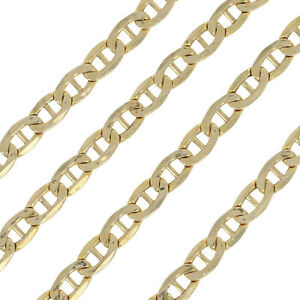14K-Solid-Yellow-Gold-Chain-Mariner-Gucci-Necklace-16-034-18-034-20-034-22-034-24-034-26-034-28-034