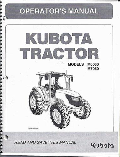 above SN 58001 Kubota M6060 M7060 Cab Tractor Operator Manual 3C631-99713