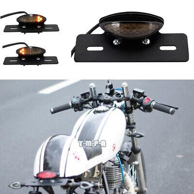 SMOKE 14LED 12V MOTORCYCLE BRAKE TURN SIGNAL LICENSE PLATE INTEGRATED TAIL LIGHT
