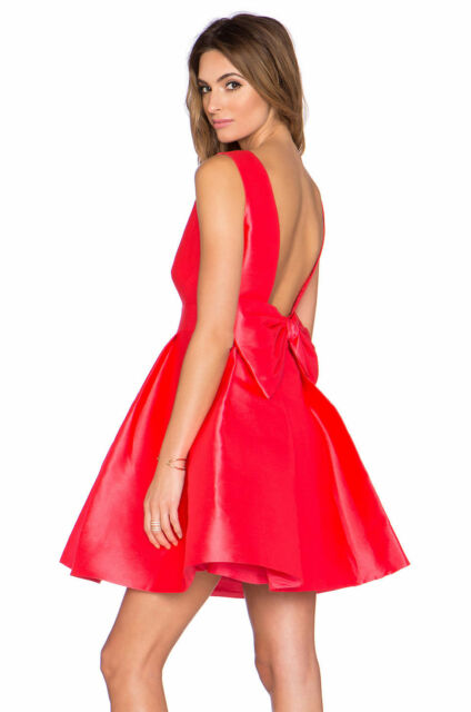 38c72f69b01 Kate Spade Fancy Meeting You Here Open Back Mini Dress Red Geranium Size 6   428