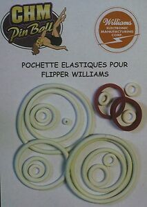 POCHETTE D'ELASTIQUES POUR FLIPPER WILLIAMSBLACK KNIGHT