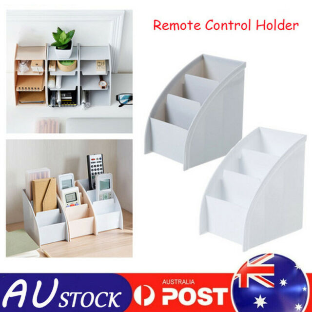 TV Remote Control Holder Tea Table Storage Box 3 Grid Desktop Tidy Organizer AU